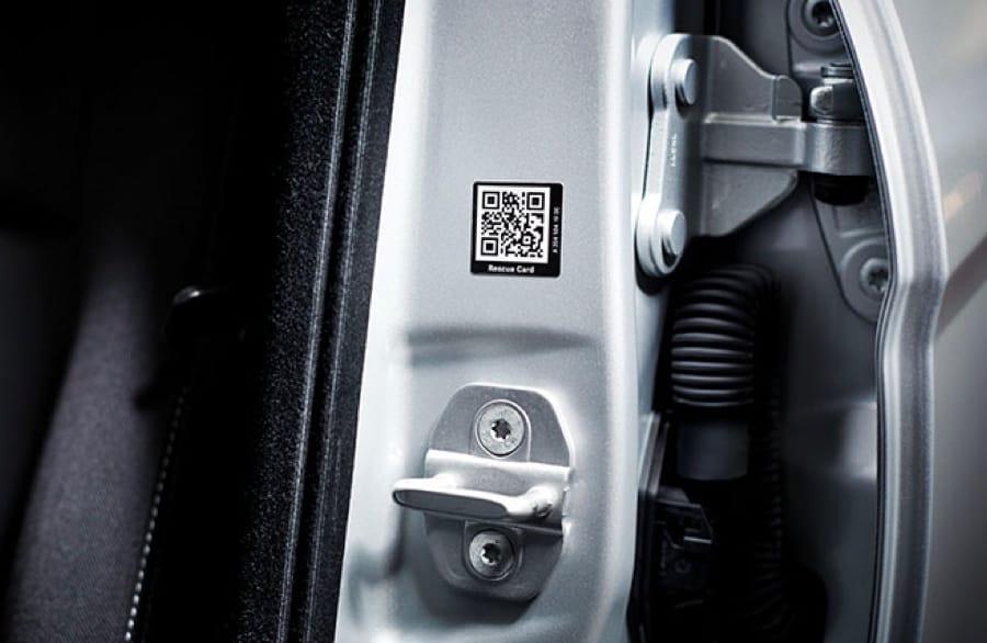 QR code on door frame